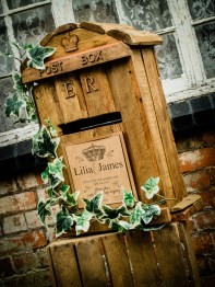 Our rustic postbox is also available to hire please ask for details