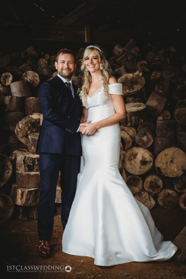 The barns at hunsbury hill wedding photographer