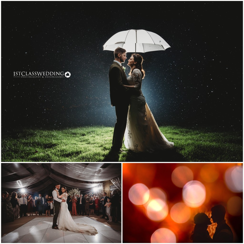 Professional Creatitve wedding photography by photographer of bride and groom at Furtho Manor Farm