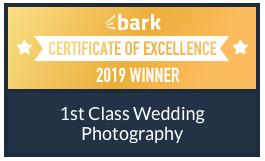 Bark Wedding Supplier - Certificate of Excellence winner