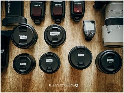 Photographers wedding equipment