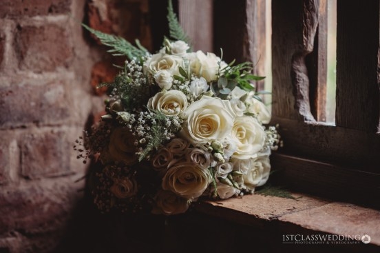 brides bouquet at curradine barns wedding venue