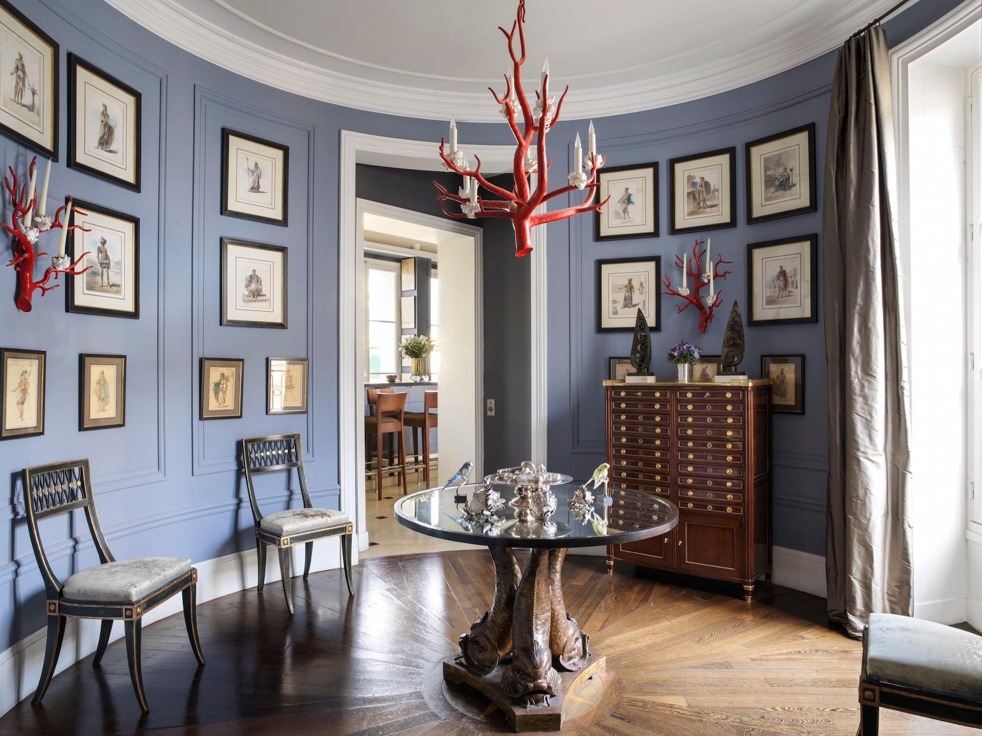 Best Kitchen Gallery: Tour Jamie Creel's Elegant Paris Apartment The Study of Paris Apartment  on rachelxblog.com