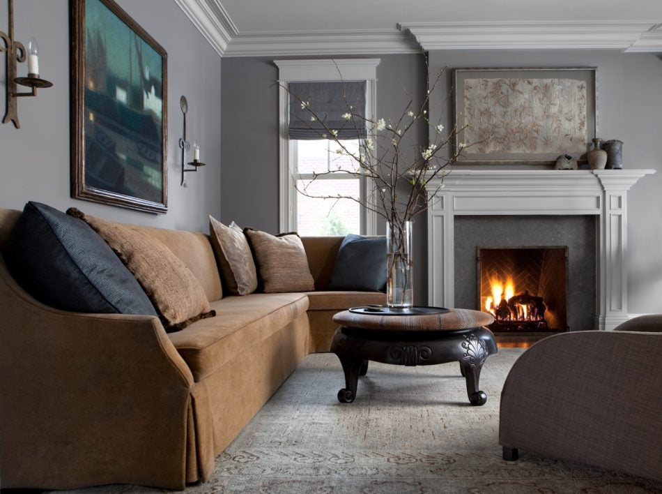 living room fireplaces calming paint colors for 28 spectacular spaces warmed by the study fireplace michael del piero