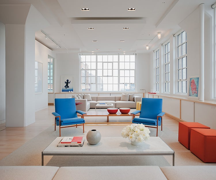 mid century egg chair office desk scandinavian modern interior design