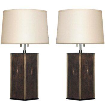 mid century yellow lamp