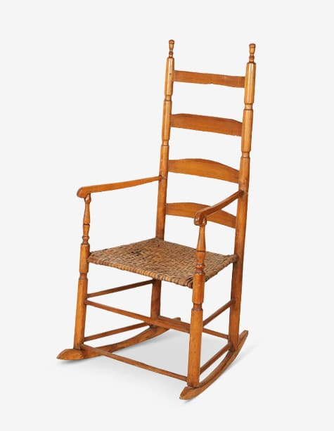 rocking chair rockers sciatic nerve pillow how one rocked its way into hearts and history 1stdibs introspective