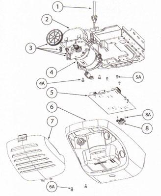 Genie Opener TriloG Garage Door Odyssey 1200, 7060 Screw