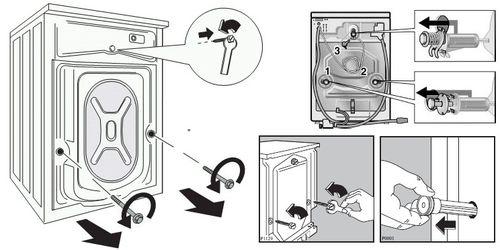 Транспортировочные болты на стиральной машине: где и как