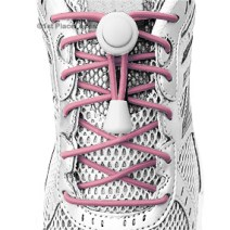 BC Awareness Pink elastic no tie locking shoelaces