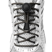 Grey elastic no tie locking shoelaces
