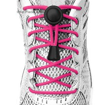 Hot Pink elastic no tie locking shoelaces