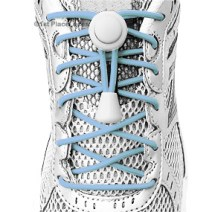 Light Blue elastic no tie locking shoelaces