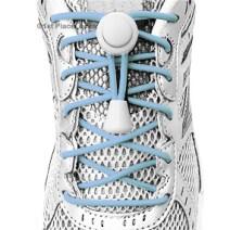 Light Blue elastic no tie locking shoelaces