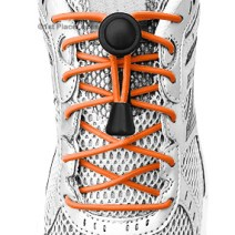 Neon Orange elastic no tie locking shoelaces