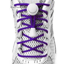 Team Purple elastic no tie locking shoelaces