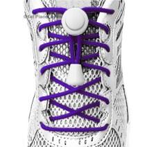 Team Purple elastic no tie locking shoelaces