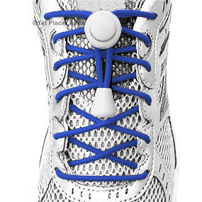 Royal Blue elastic no tie locking shoelaces