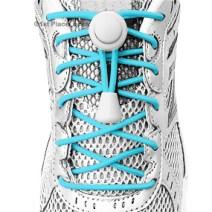 Turquoise elastic no tie locking shoelaces