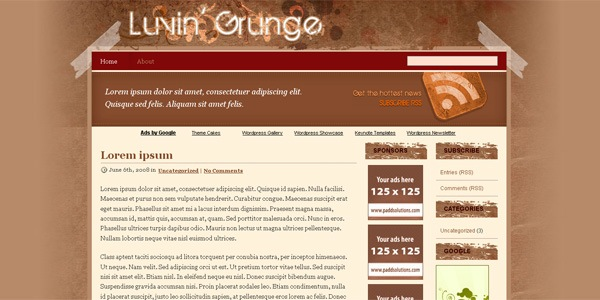 grunge-wordpress-theme