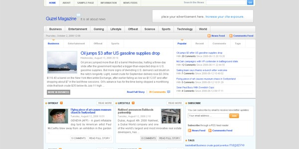 guzel-wordpress-theme