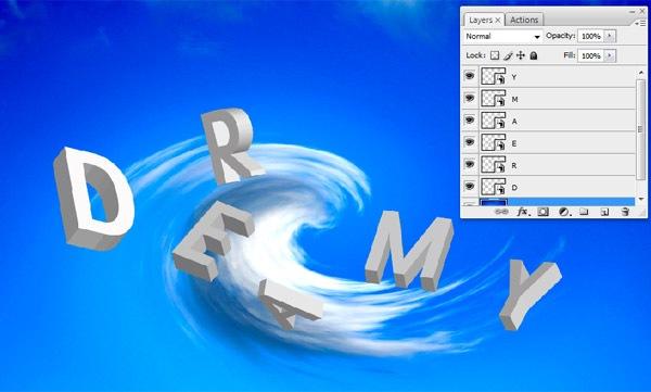 text-on-the-photoshop ফটোশপের কারুকাজ- পর্ব ৫ (3D তে স্বপ্নের আকাশ)