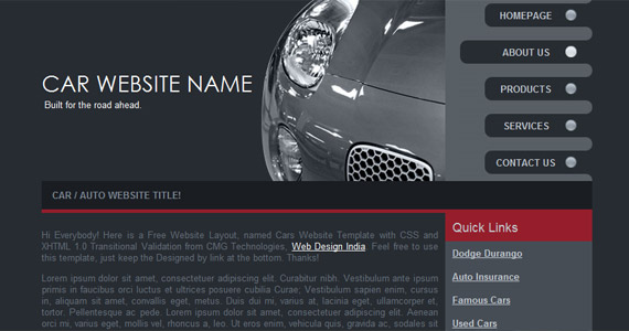 car-website-xhtml-css-template