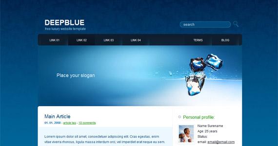 deep-blue-xhtml-css-template