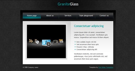 granite-glass-xhtml-css-template