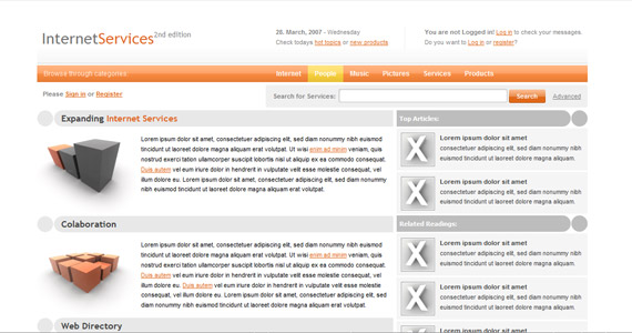 internet-services-xhtml-css-templates