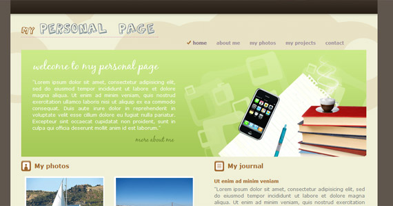 my-personal-page-xhtml-css-template