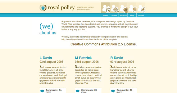 royal-policy-xhtml-css-template
