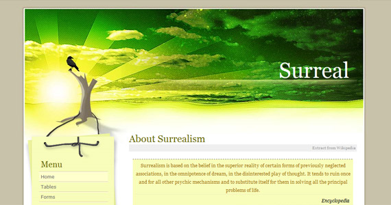 surreal-xhtml-css-template