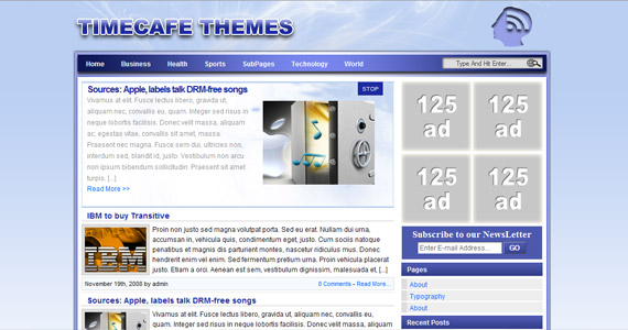 timecaffe-professional-wordpress-theme