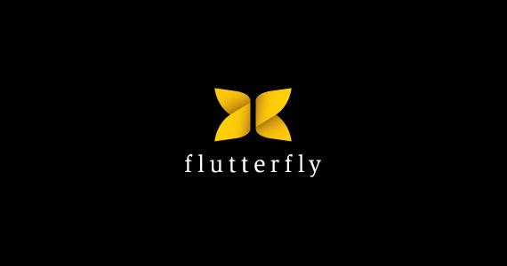 flutterfly-creative-gradient-3d-logo-design