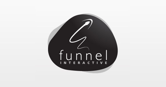 funnel-interactive-creative-gradient-3d-logo-design