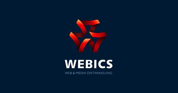 webics-creative-gradient-3d-logo-design