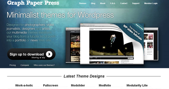 Graph paper press free themes