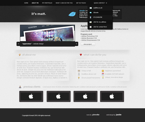 Pro-portfolio-web-design-interface-inspiration-deviantart