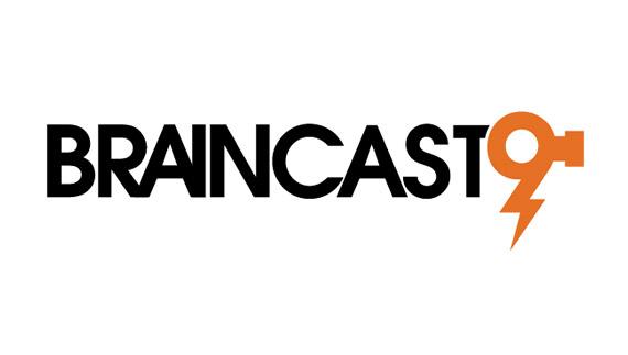 Logo design process of brainstorm