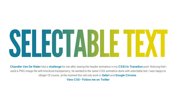 Selectable-css3-text-effect-tutorials