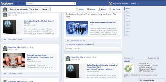 Facebook Wall Infinite Scrolling