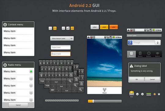 Android 2.2 GUI