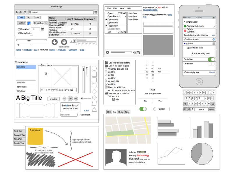 Balsamiq allows you to effortlessly create prototypes