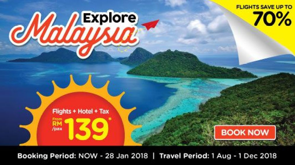 AirAsia-explore-malaysia-domestic-flights-hotel-promotion-jan-2018