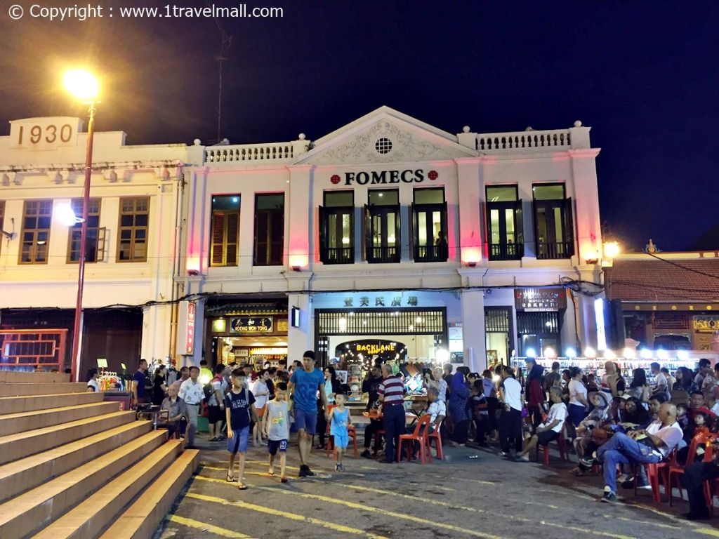 Fomecs Boutique Hotel Melaka Night View with night market