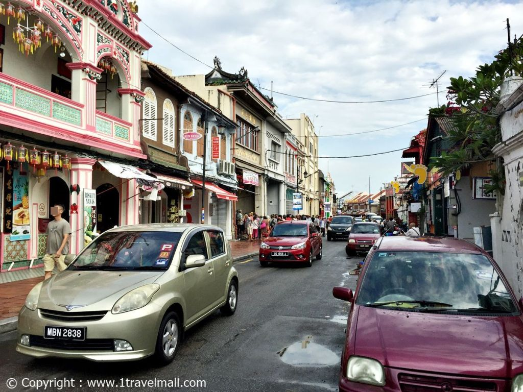 Jonker Street with parking Malacca