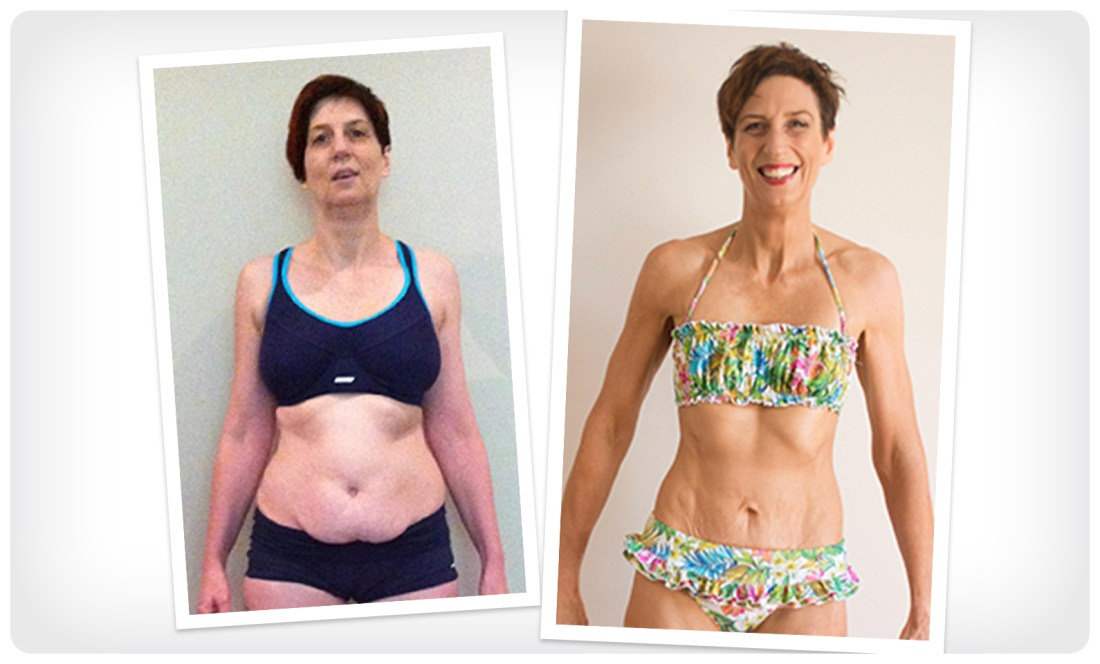 Sharon lost more than 30 pounds with Precision Nutrition Coaching.