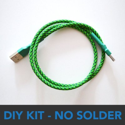 DIY No-Solder USB Cable Kit - Multicolors -0