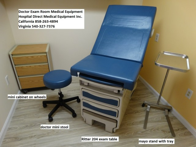 Doctor Exam room medical equipment for sale. Call 858-263-4894 to order or get pricing and availability.